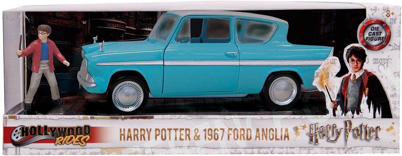 Masinuta Ford Anglia 1:24 si figurina Harry Potter Jada Toys imagine hippoland.ro