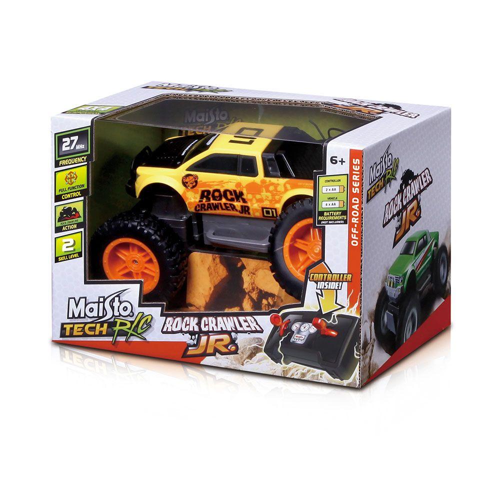 Mainuta cu telecomanda Maisto Tech Jeep Rock Crawler Junior imagine hippoland.ro