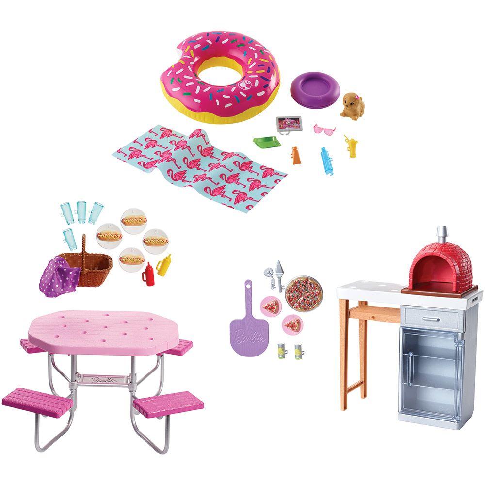 Mobilier de gradina cu accesorii Barbie imagine hippoland.ro