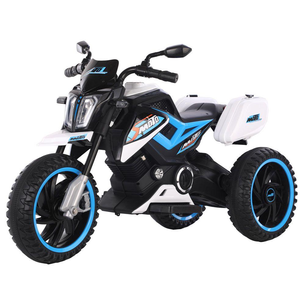 Motocicleta 3 roti cu acumulator Ocie Motor 12 V White imagine hippoland.ro