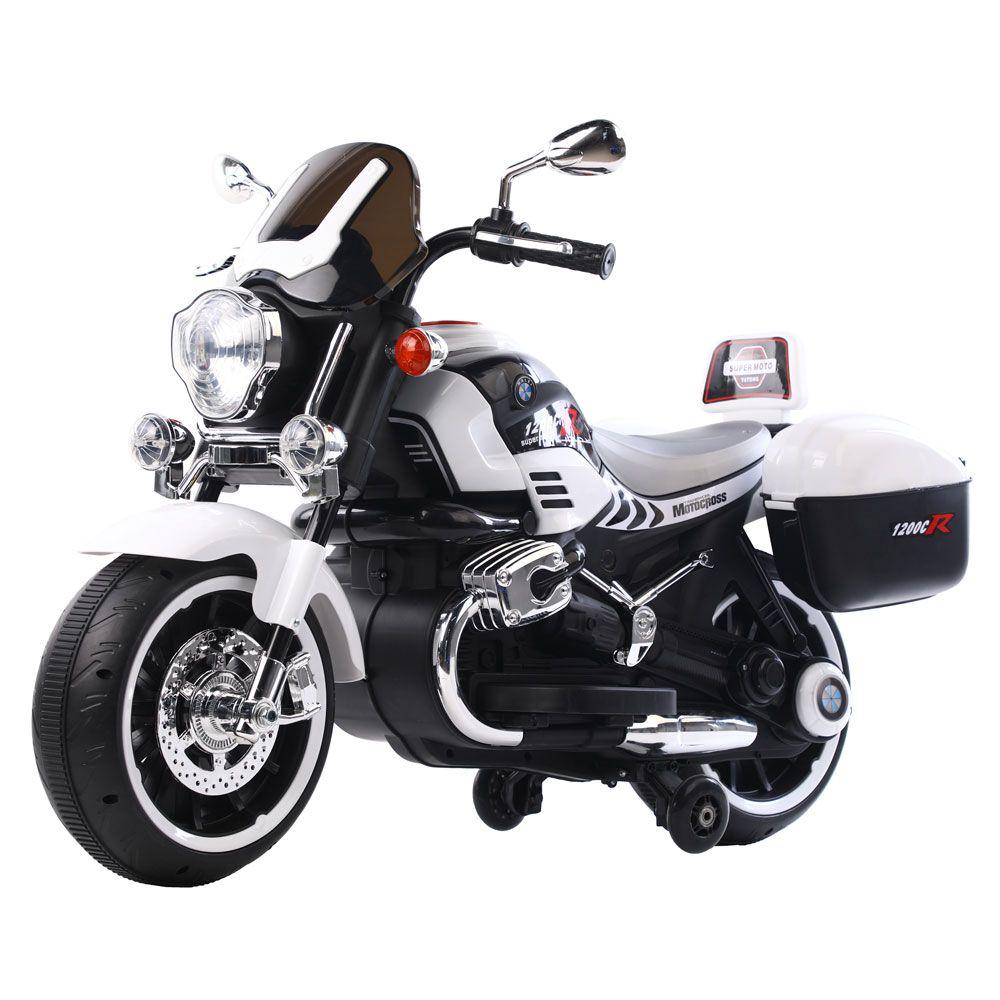 Motocicleta cu acumulator Ocie Motocross 1200CR 12 V White 3790006-2 imagine hippoland.ro