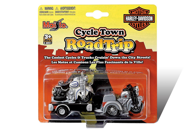Motocicleta cu remorca Maisto Harley Davidson imagine hippoland.ro