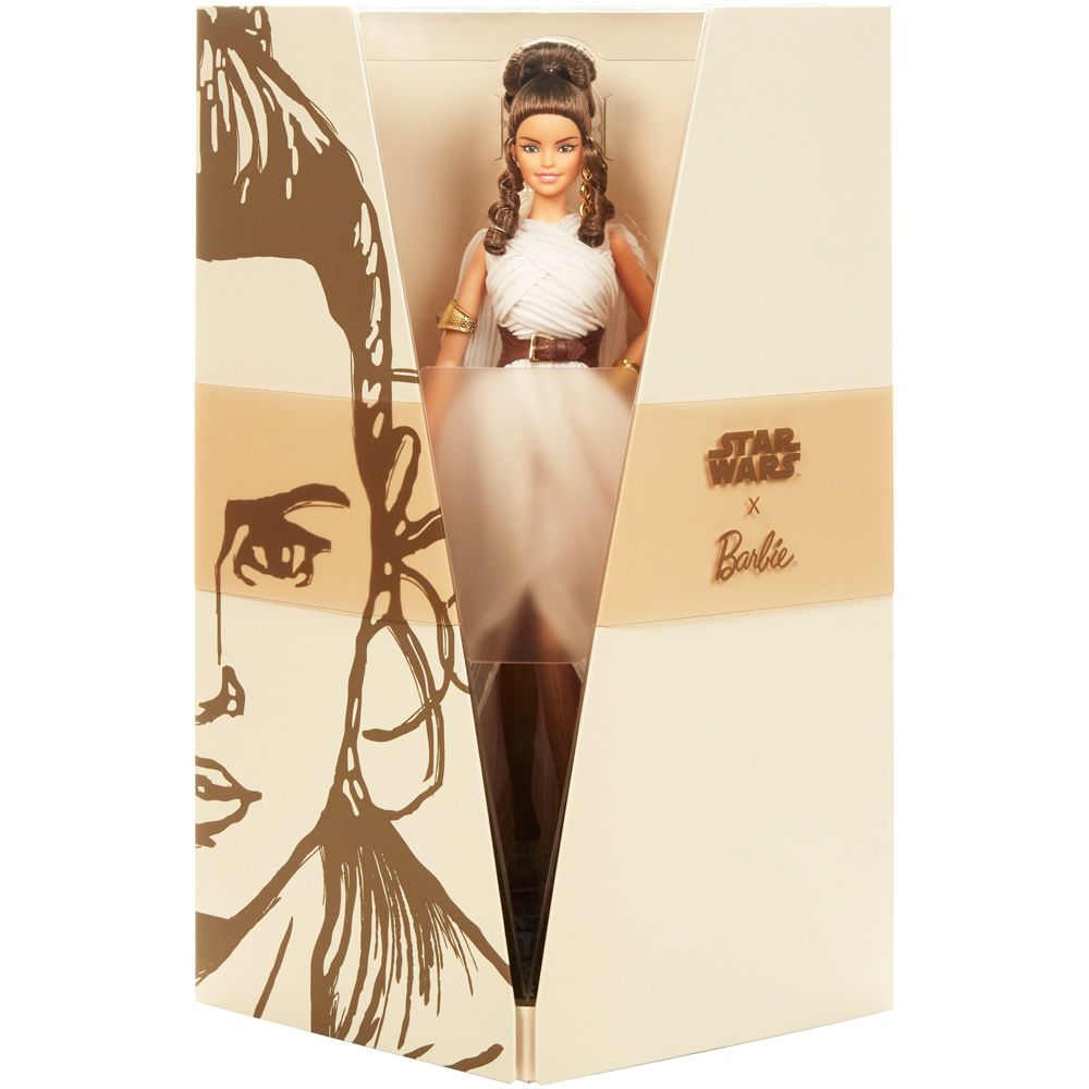 Papusa Barbie Gold Label editia Star Wars Rey