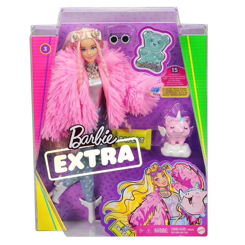 Papusa cu accesorii Barbie Extra Fashionistas imagine hippoland.ro