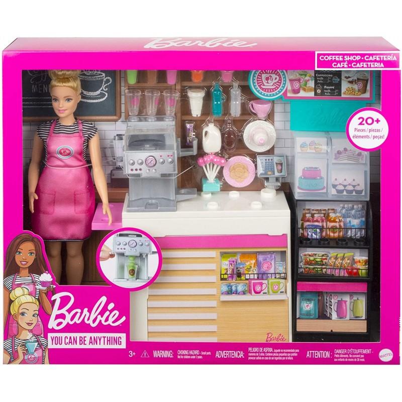 Papusa cu accesorii Cafeneaua Barbie imagine hippoland.ro
