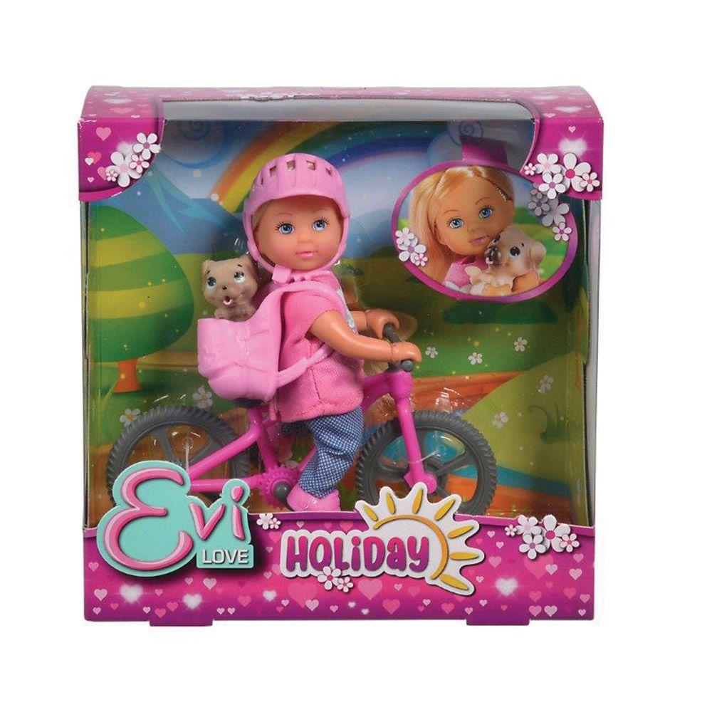 Papusa cu bicicleta Simba Evi Love imagine hippoland.ro