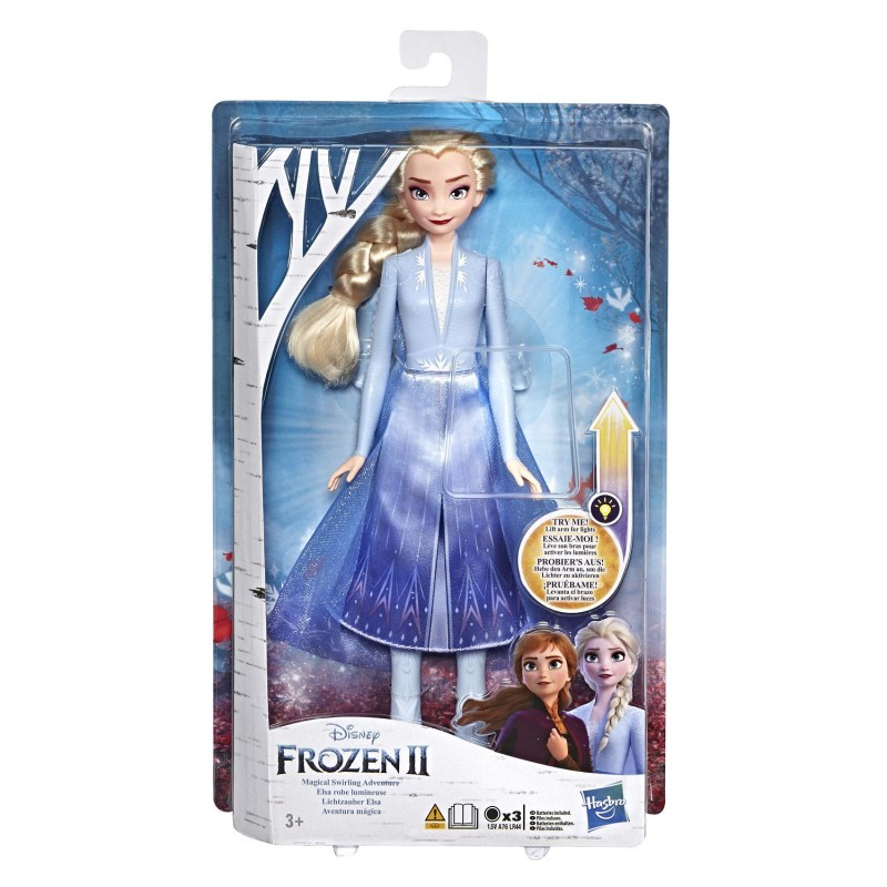 Papusa cu rochie cu lumini Hasbro Disney Frozen II imagine hippoland.ro