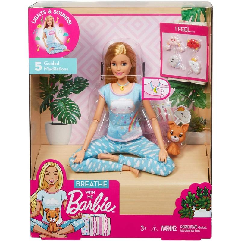 Papusa cu sunete si lumini Mattel Barbie Yoga imagine hippoland.ro