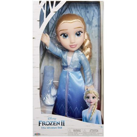 Papusa Elsa cu rochie de calatorie 36 cm imagine hippoland.ro