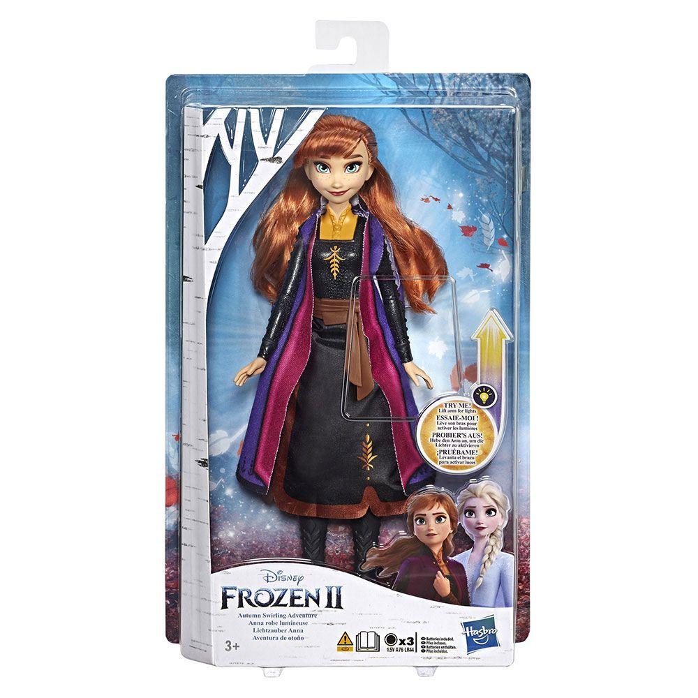 Papusa Hasbro Disney Frozen II Light Up Fashion Anna imagine hippoland.ro