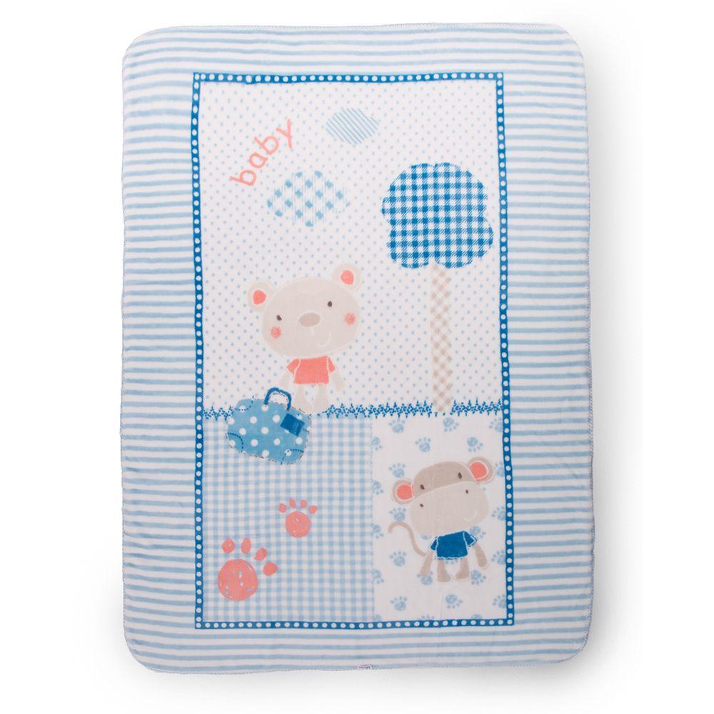 Patura bebelusi Kikka Big Fantasia Blue 110 x 140 cm imagine hippoland.ro