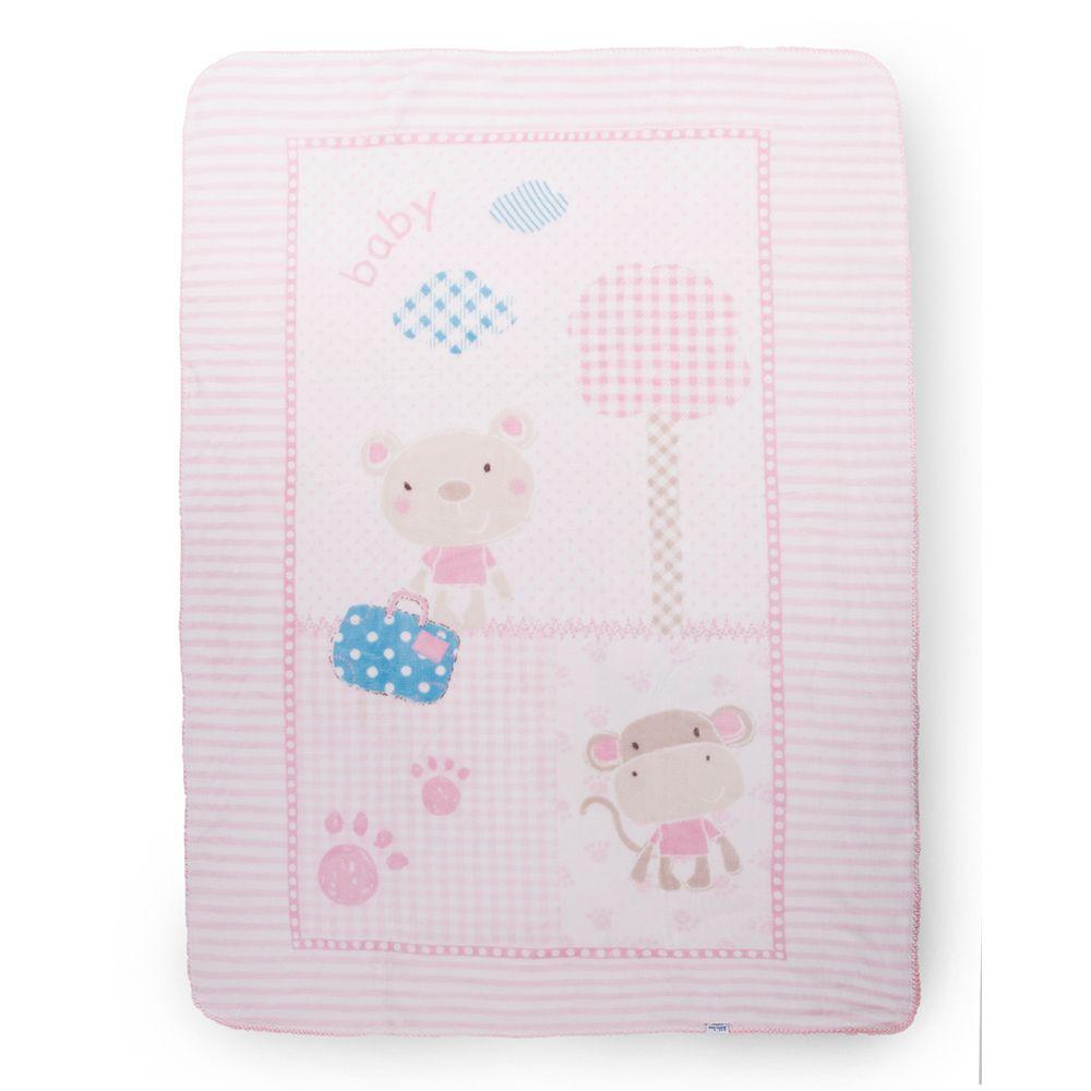 Patura bebelusi Kikka Big Fantasia Pink 110 x 140 cm imagine hippoland.ro