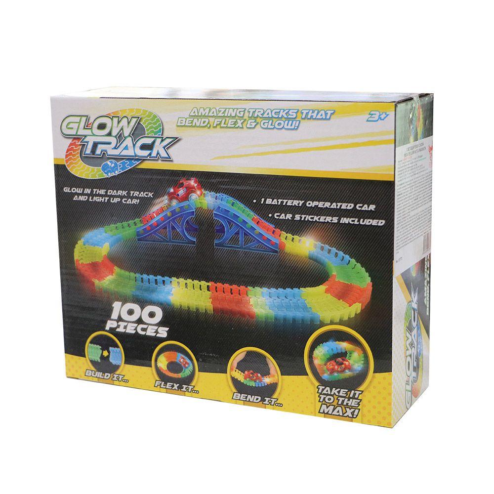 Pista flexibila cu o masinuta Glow Track 100 piese imagine hippoland.ro