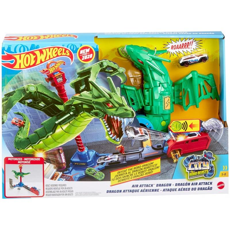Pista Hot Wheels City Atacul Aerian al Dragonului imagine hippoland.ro