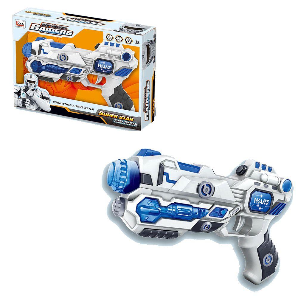 Pistol cu sunete si lumini Space Raiders ZY725728 imagine hippoland.ro