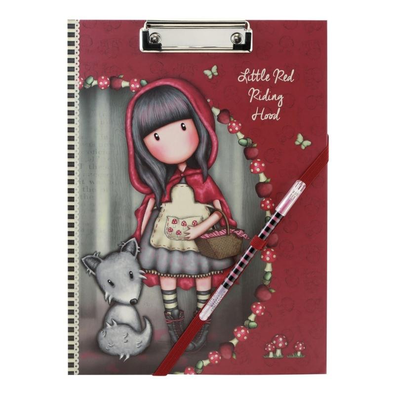 Planificator cu clip board Gorjuss Little Red Riding Hood imagine hippoland.ro