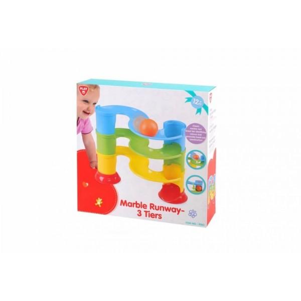 Set de joaca cu bile PLGO Marble Runway imagine hippoland.ro