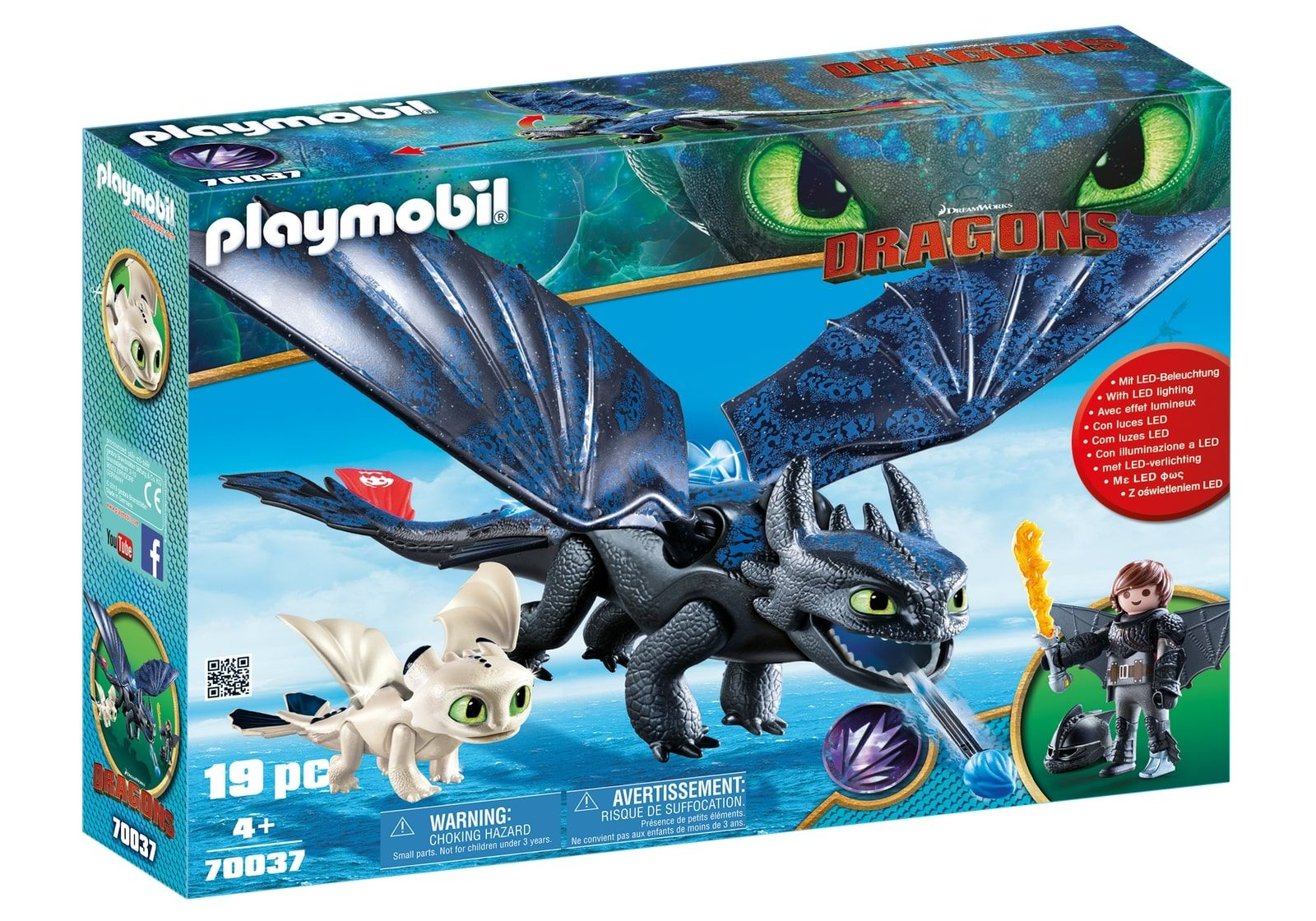 Playmobil PM70037 Hiccup, Toothless Si Pui De Dragon imagine hippoland.ro