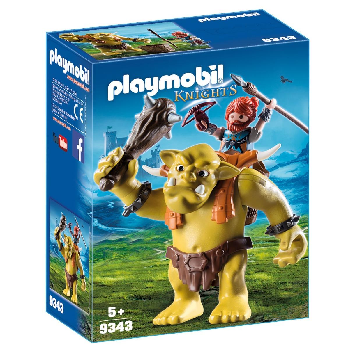 Playmobil PM9343 Trol Cu Luptator Pitic imagine hippoland.ro