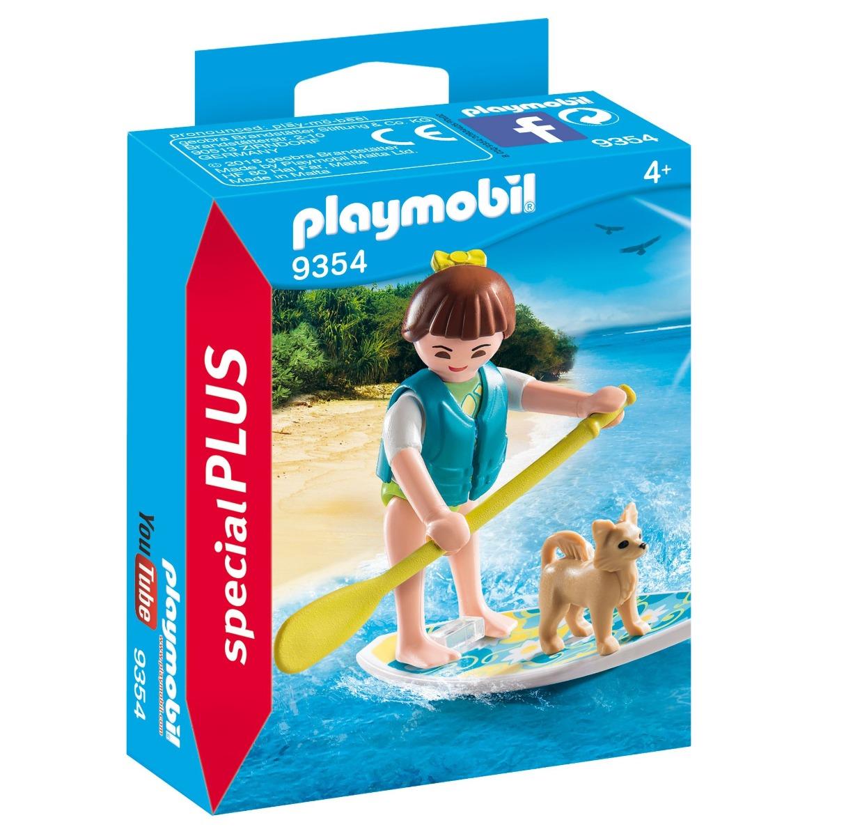 Playmobil PM9354 Figurina Surfer Si Catel imagine hippoland.ro