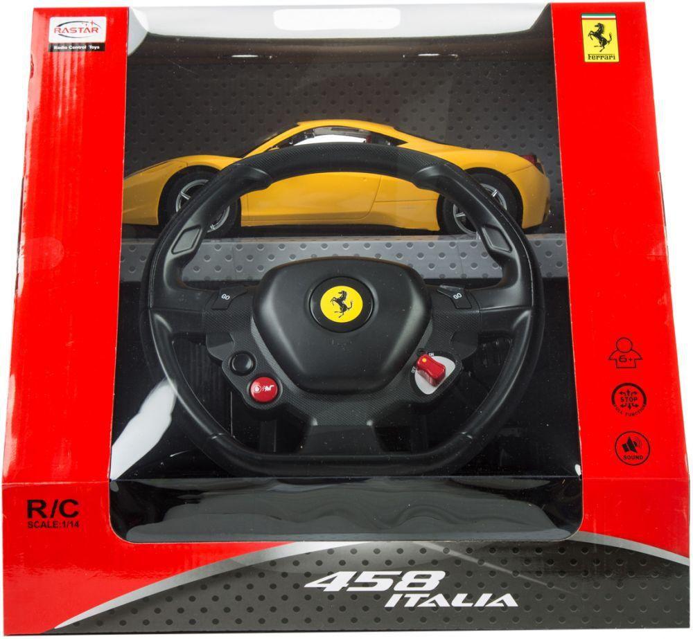 Masinuta cu telecomanda volan Rastar Ferrari 458 Italia 1:14 imagine hippoland.ro