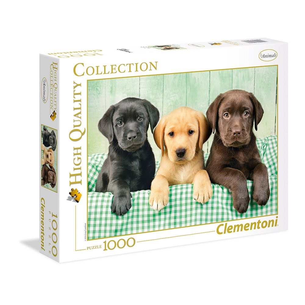 Puzzle 1000 piese Clementoni High Quality Collection Three Labradors imagine hippoland.ro
