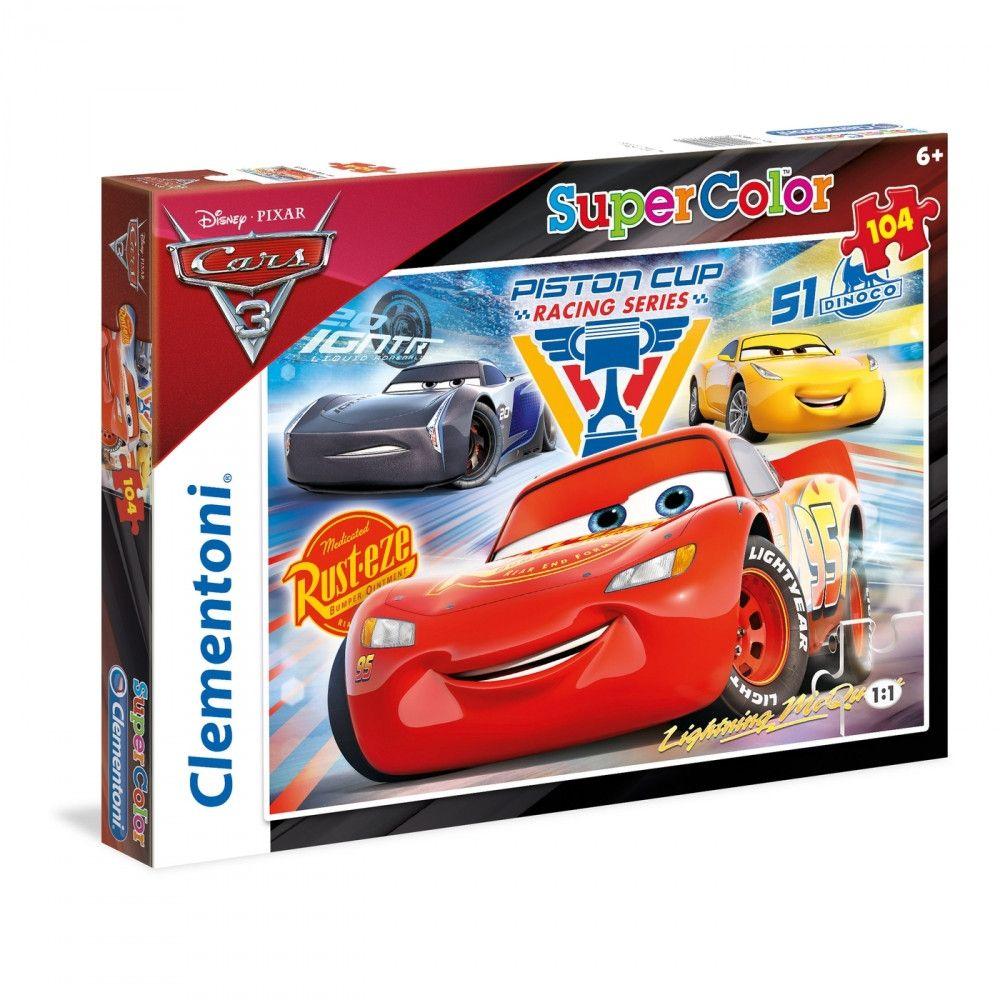 Puzzle 104 piese Clementoni Cars 3 imagine hippoland.ro