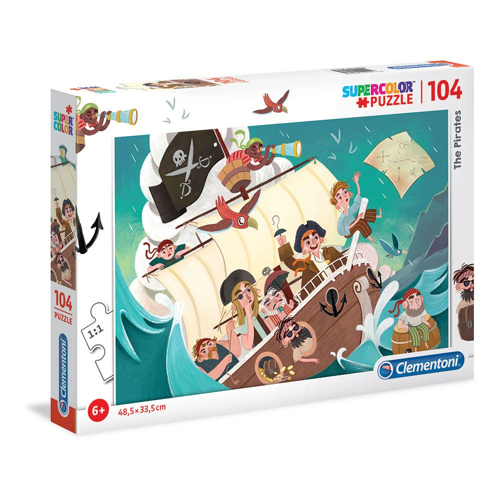 Puzzle 104 piese Clementoni Pirates imagine hippoland.ro