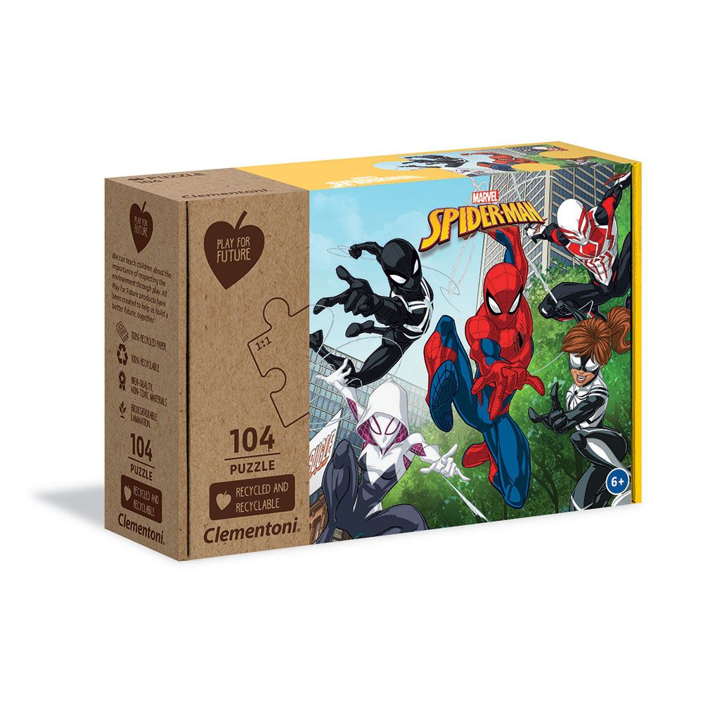 Puzzle 104 piese Clementoni Play For Future Spiderman imagine hippoland.ro