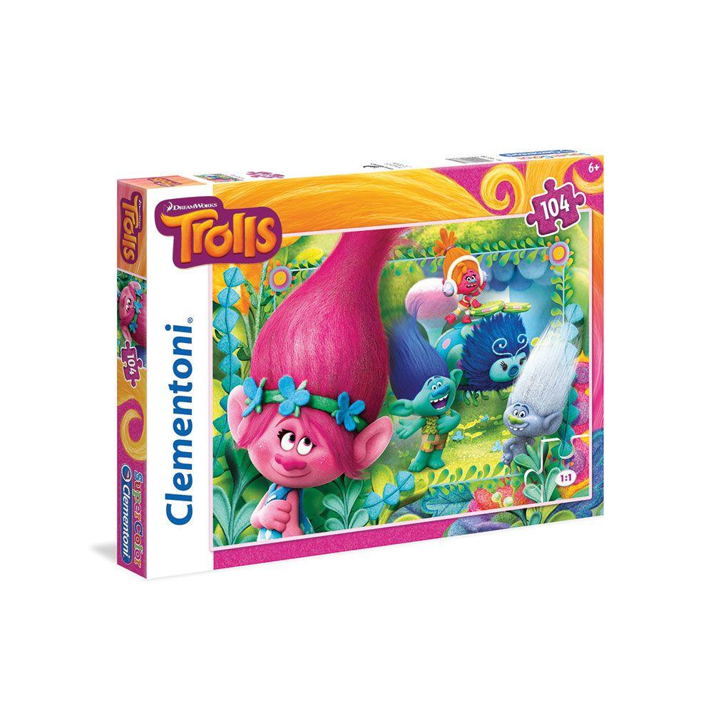 Puzzle 104 piese Clementoni Trolls imagine hippoland.ro