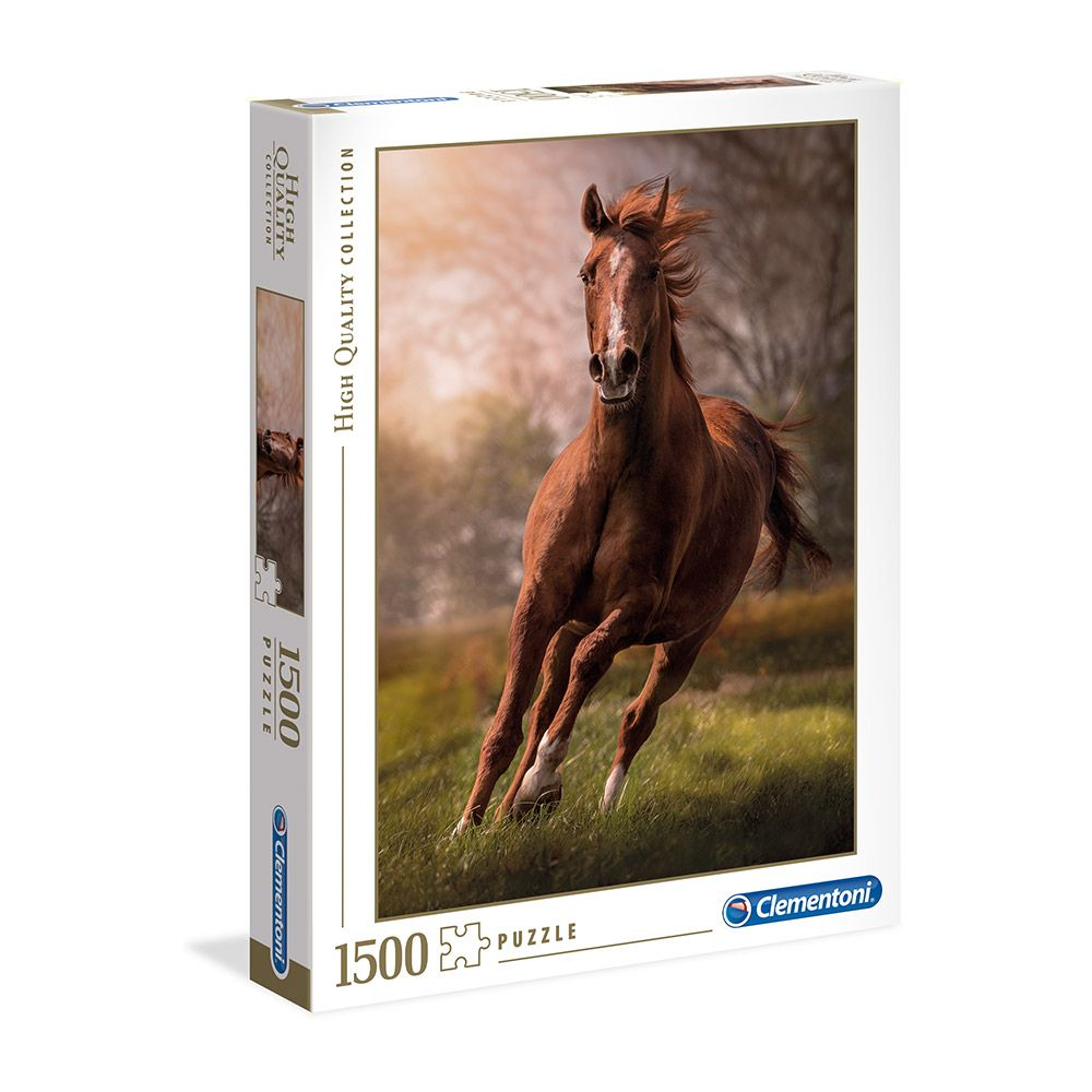 Puzzle 1500 piese Clementoni High Quality Collection The Horse imagine hippoland.ro