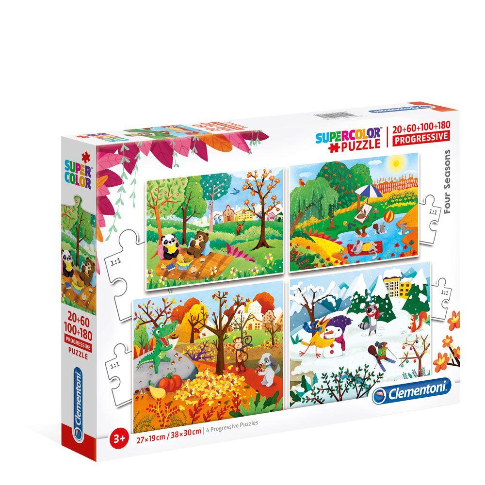 Puzzle 20+60+100+180 piese Clementoni Four Seasons imagine hippoland.ro