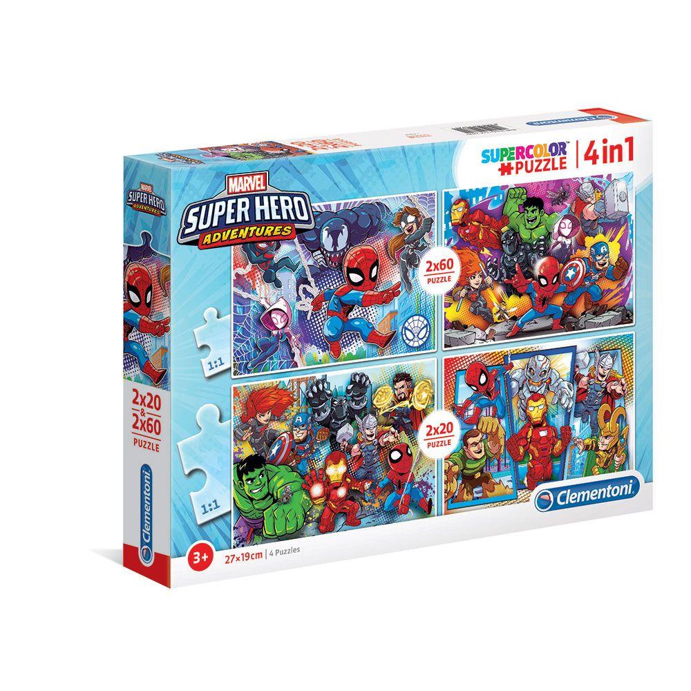 Puzzle 2x20+2x60 piese Clementoni Superhero imagine hippoland.ro