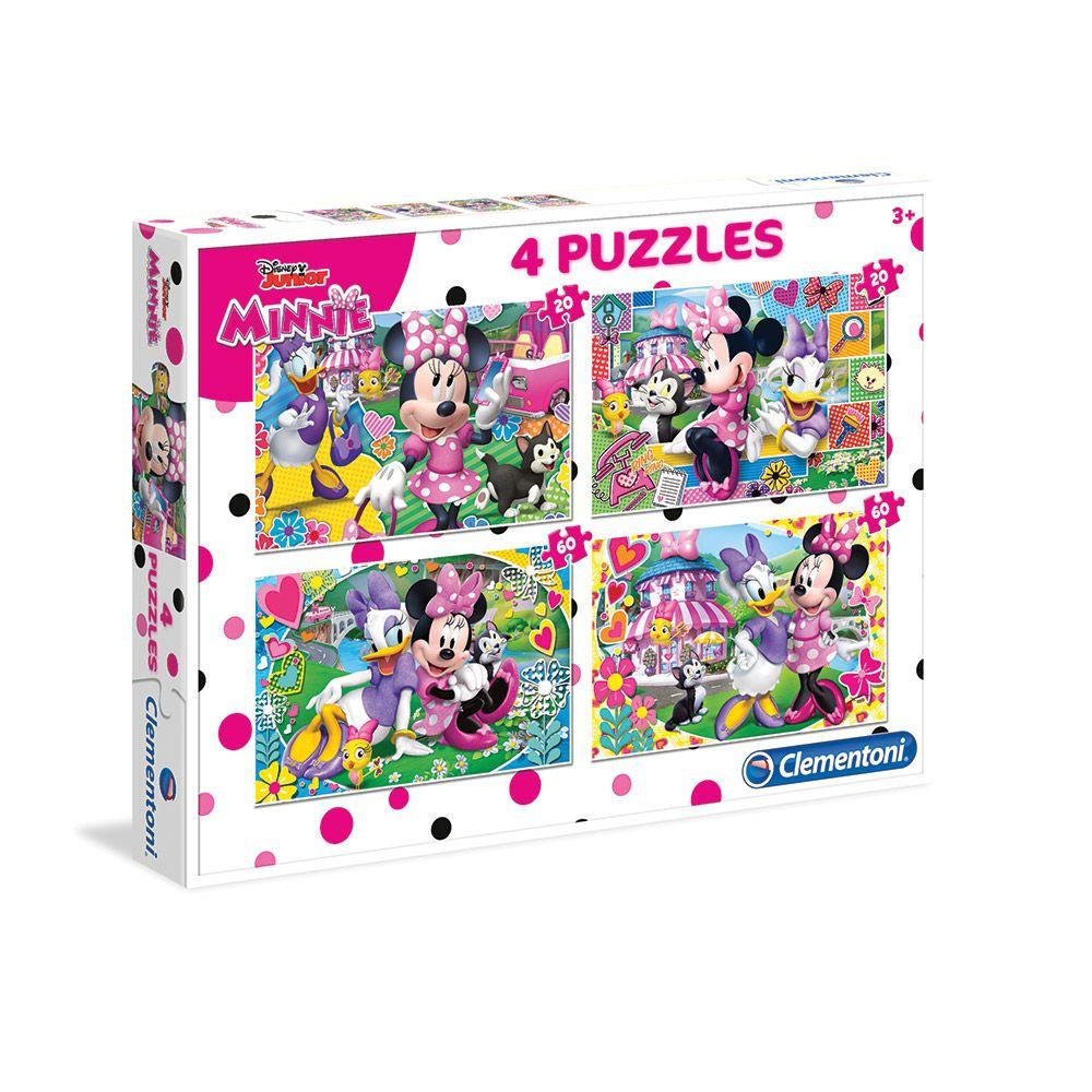 Puzzle 2x20+2x60 piese Minnie imagine hippoland.ro