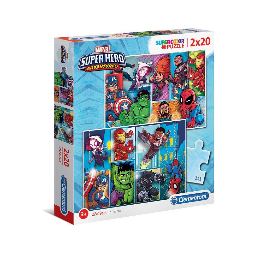 Puzzle 2x20 piese Clementoni Disney Superhero imagine hippoland.ro