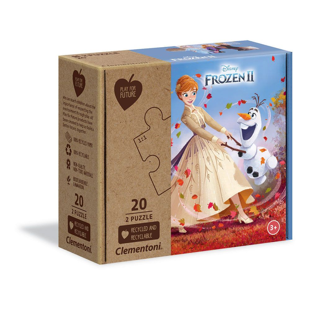 Puzzle 2x20 piese Clementoni Play For Future Frozen 2 imagine hippoland.ro