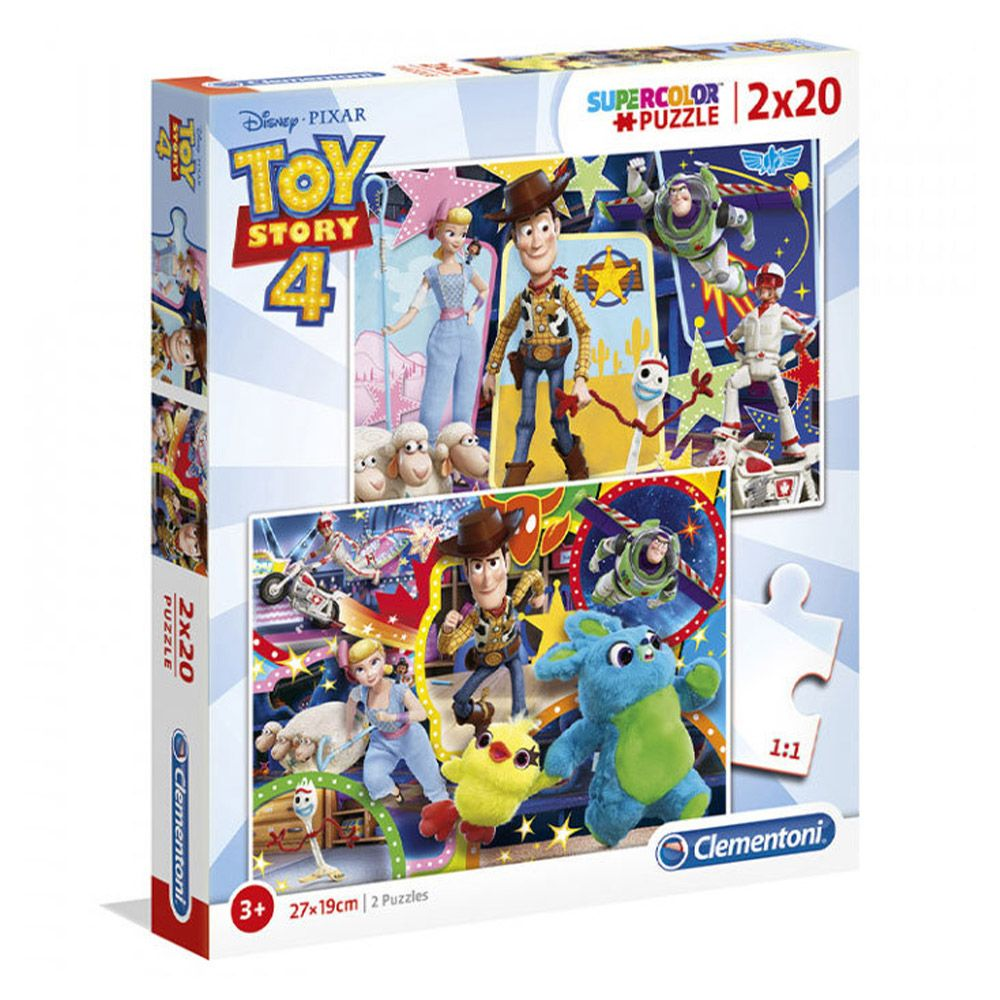 Puzzle 2x20 piese Clementoni Toy Story 4 imagine hippoland.ro