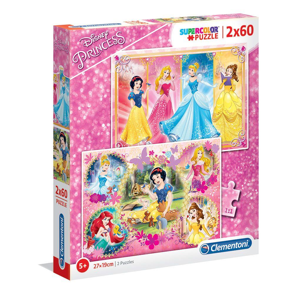 Puzzle 2x60 piese Clementoni Princess imagine hippoland.ro
