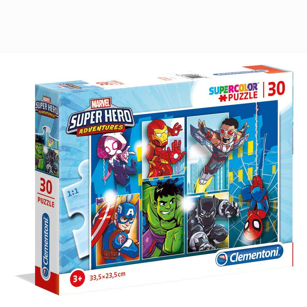 Puzzle 30 piese Clementoni Marvel Super Hero Adventures imagine hippoland.ro