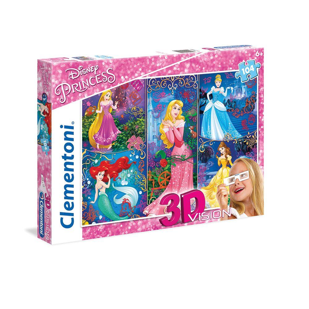Puzzle 3D 104 piese Clementoni Princess imagine hippoland.ro