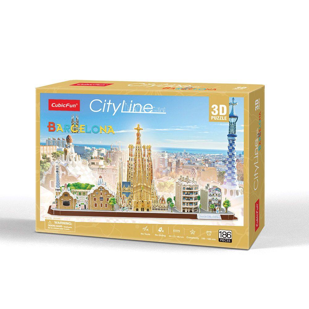 Puzzle 3D Cubic Fun City Line Barcelona imagine hippoland.ro