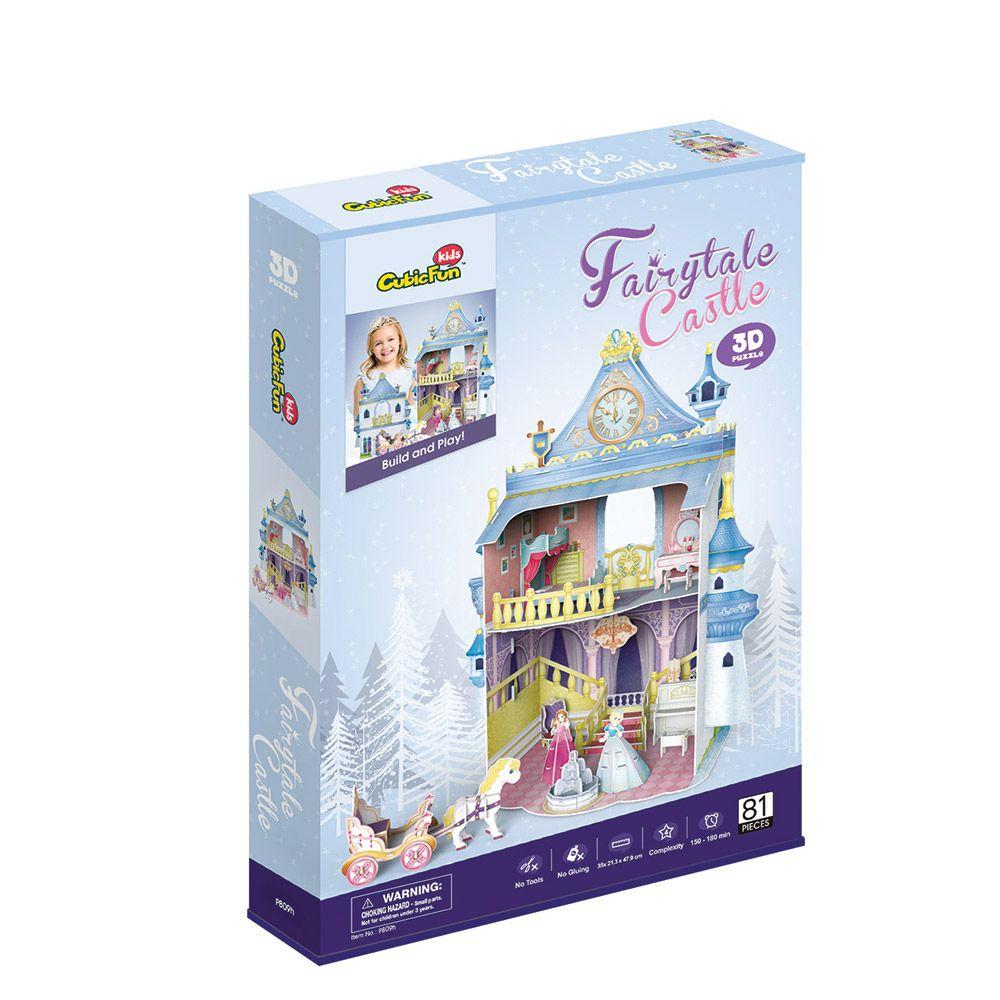 Puzzle 3D Cubic Fun Fairytale Castle imagine hippoland.ro