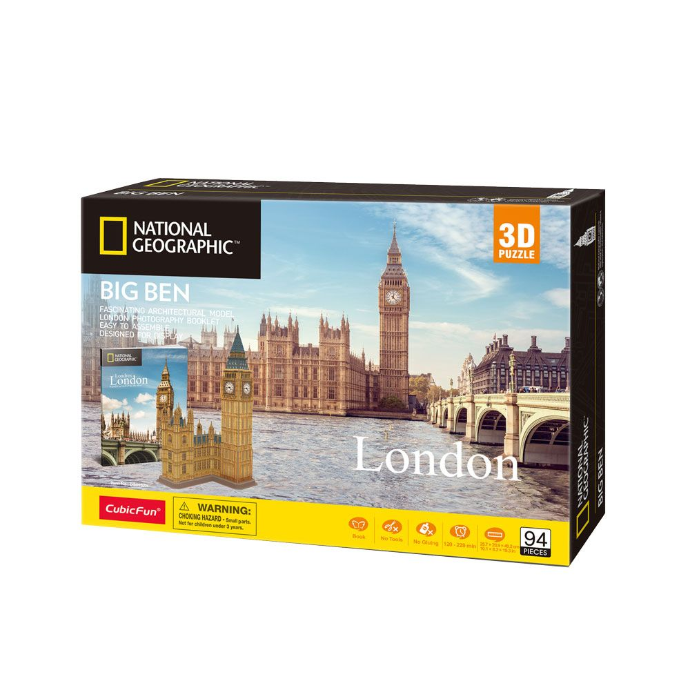 Puzzle 3D Cubic Fun National Geographic Big Ben