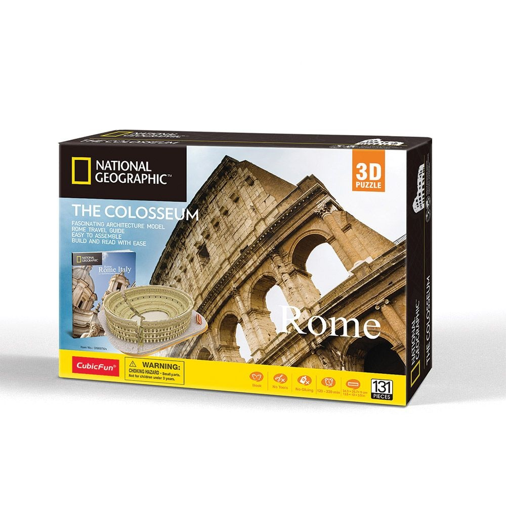 Puzzle 3d Cubic Fun National Geographic Colosseum 131 piese imagine hippoland.ro
