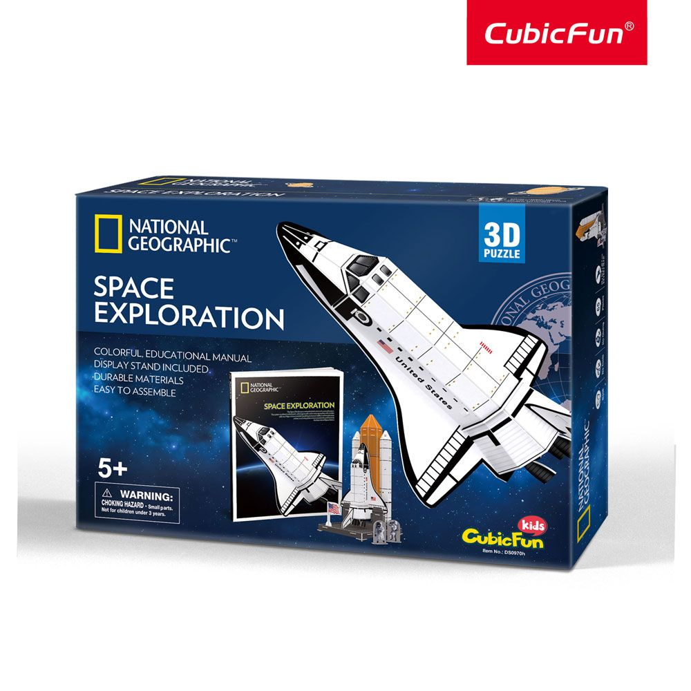 Puzzle 3d Cubic Fun National Geographic Space Exploration 65 piese imagine hippoland.ro