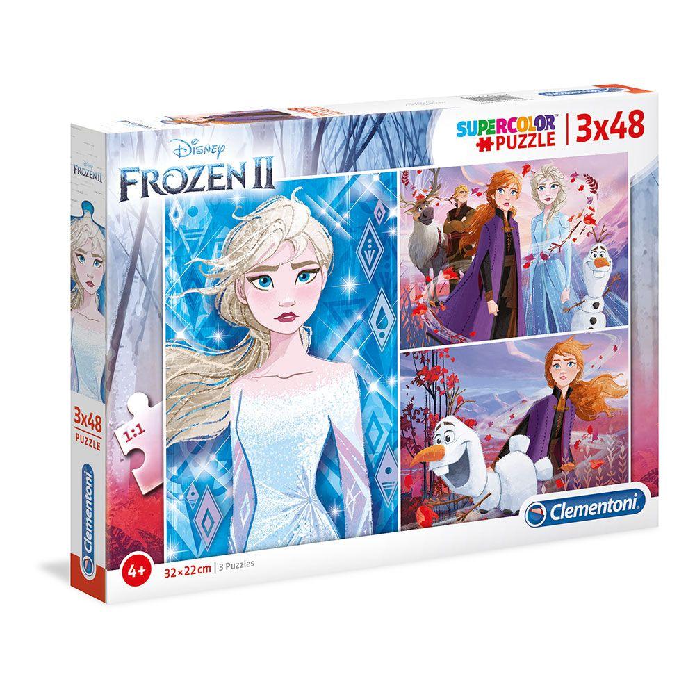 Puzzle 3x48 piese Clementoni Frozen 2 imagine hippoland.ro