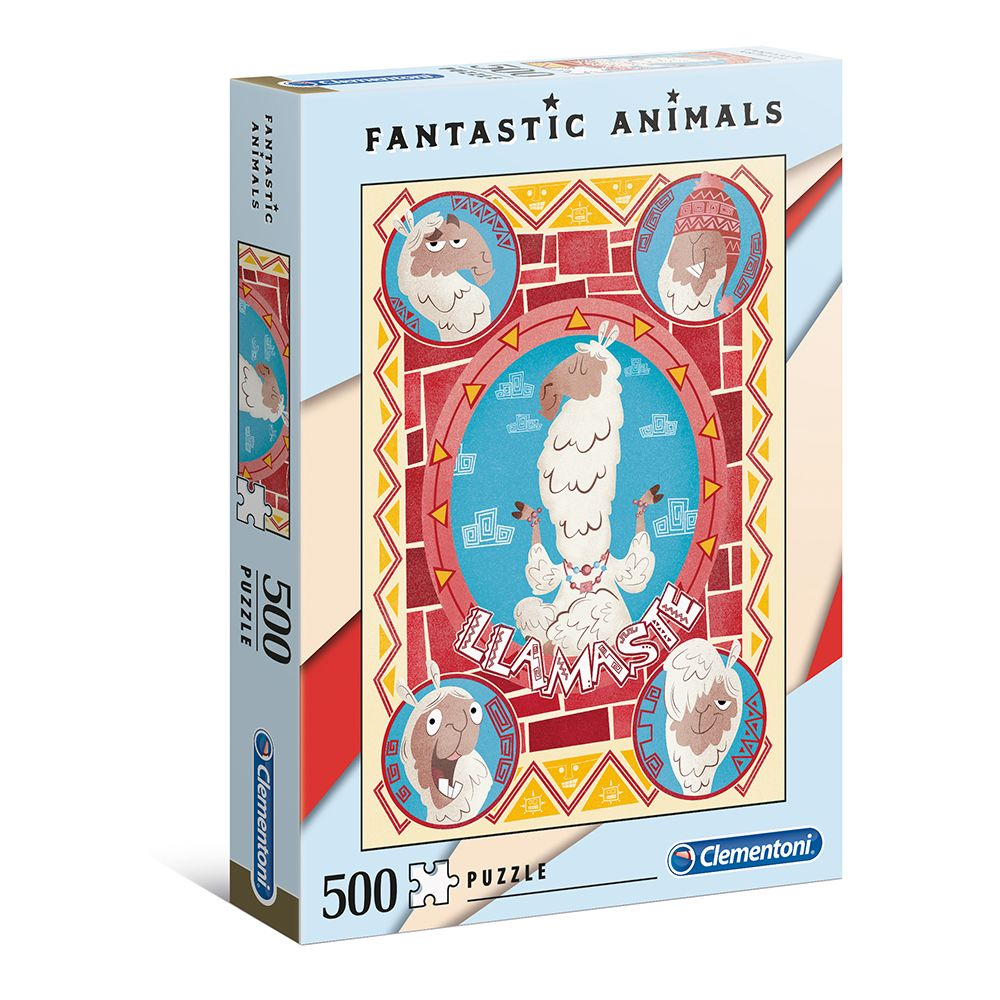 Puzzle 500 de piese Clementoni Fantastic Llama imagine hippoland.ro