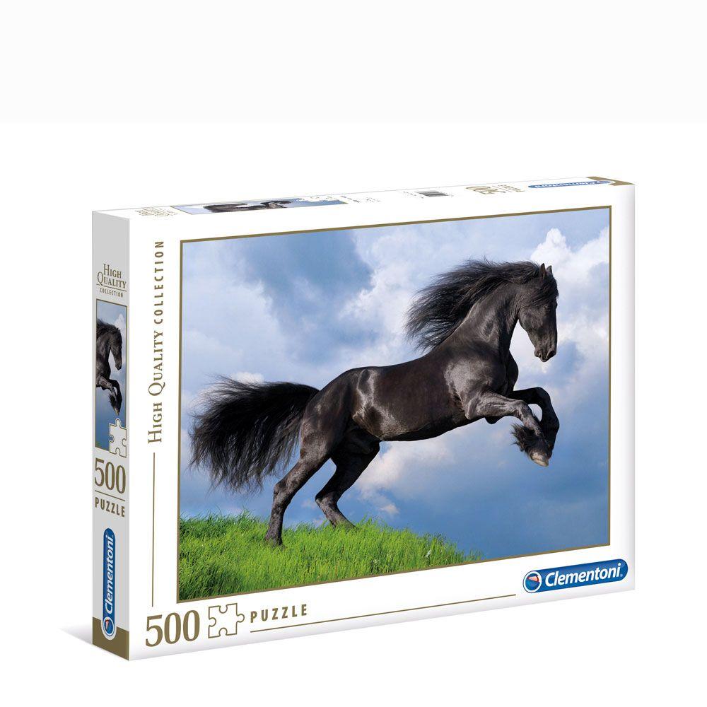Puzzle 500 piese Clementoni Fresian Black Horse imagine hippoland.ro
