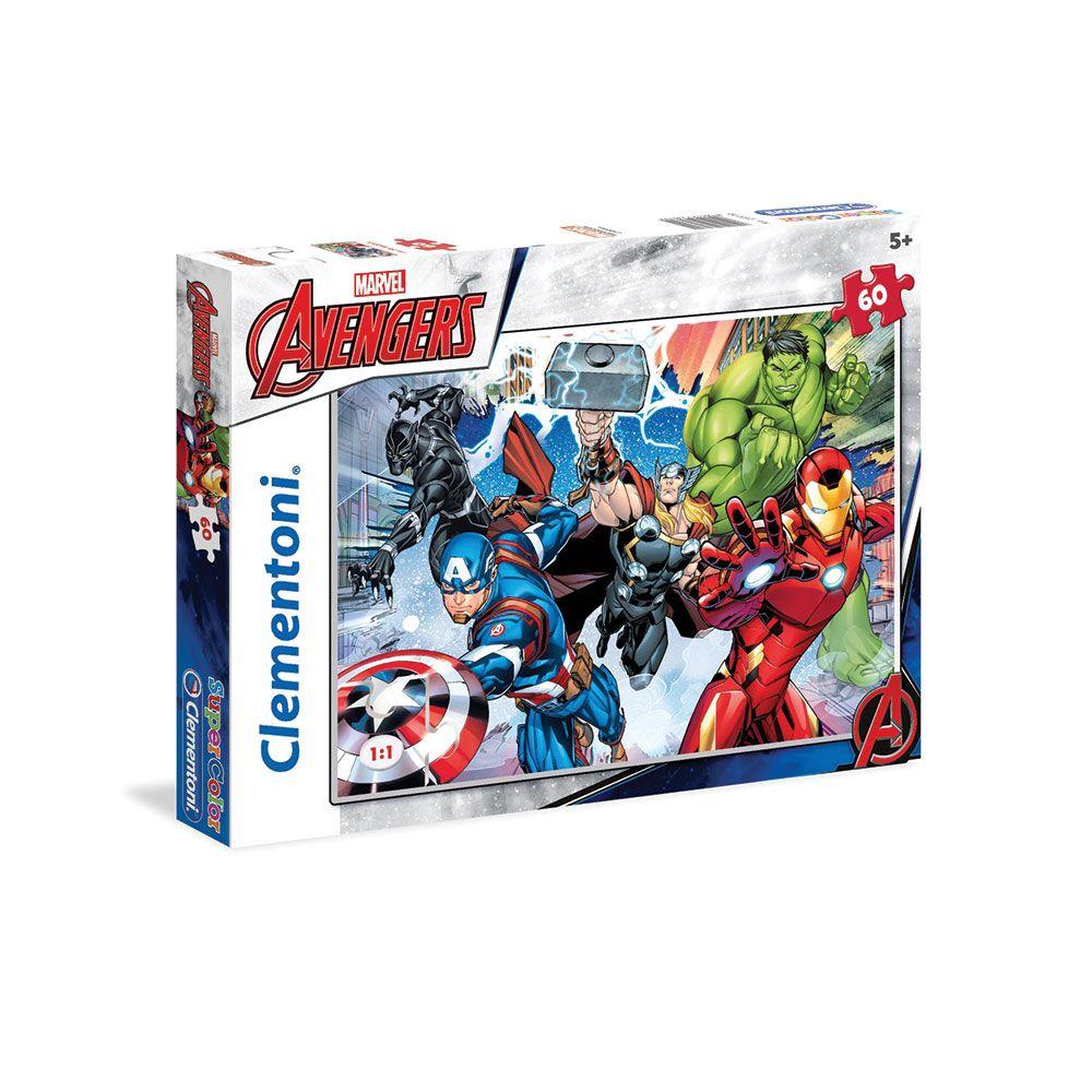 Puzzle 60 piese Clementoni The Avengers 26979 imagine hippoland.ro