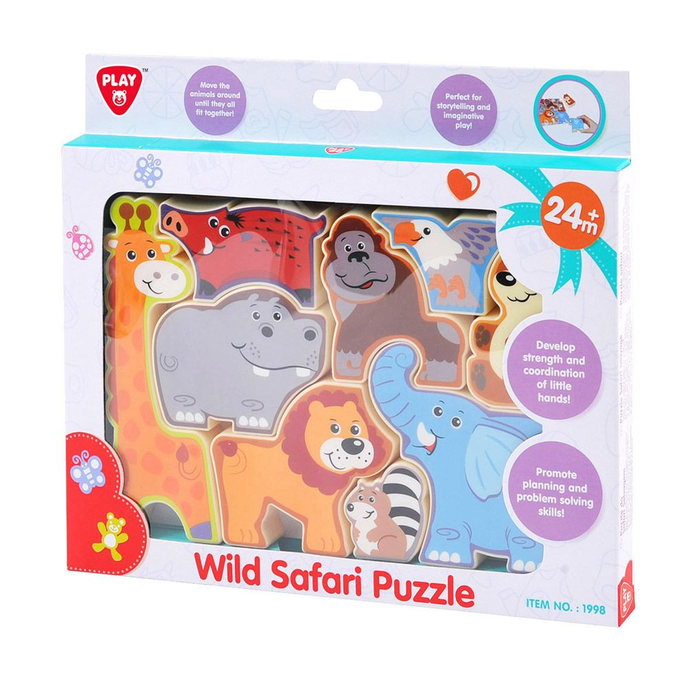 Puzzle cu animale din jungla Play Go Safari imagine hippoland.ro